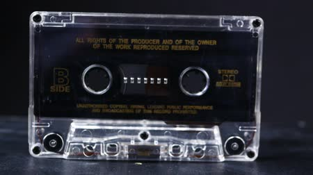 Ternopil, Ukraine - February 19, 2018: Close up of vintage audio tape cassette