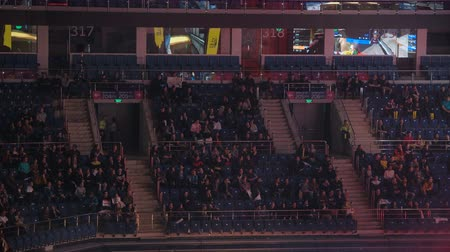 counter strike : MOSCOW, RUSSIA - OCTOBER 27 2018: EPICENTER Counter Strike: Global Offensive esports event. Fans on a tribunes cheering and supporting for thier favorite teams. Stock Footage