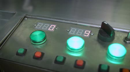 toggle : Industrial display, control panel, switching toggle Stock Footage