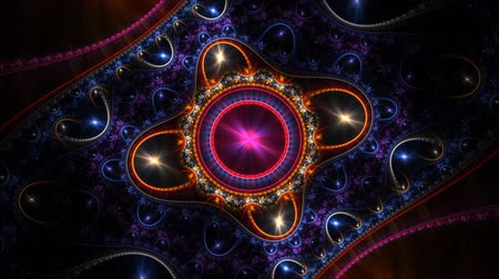 chakra : colorful swirling wheels in fractal space