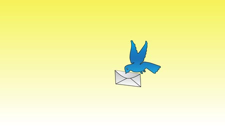 dove of peace : Blue dove with letter