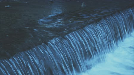 whispering : Natural flowing water. Pure and clean spring water. Natural spring water flowing. Cold water fountains Stock Footage