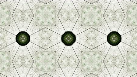 иллюстрированный : Abstract, colorful, symmetric pattern, decorative decorative kaleidoscope with moving geometric figures in star shapes. Beautifully illustrated geometric shapes.