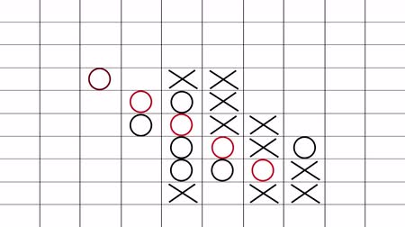 tık : Gomoku. A five-in-a-row game in action. Game from start to finish with final result.