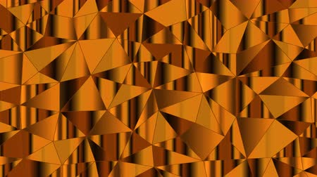Abstract 3D geometric square shapes moving like waves. Colored triangle objects animation. Seamless loop 4K.