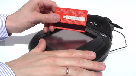 kart : HD 1080 - Credit Card Terminal_scene 08 Stok Video