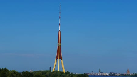 riga : HD - Motion timelapse. TV Tower Stock Footage