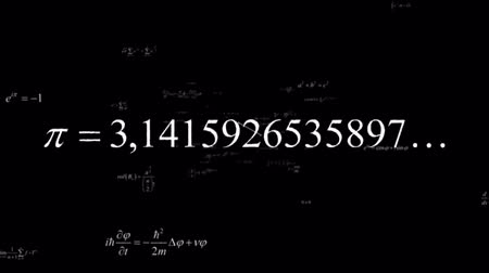 uczenie się : HD - Mathematical formulas (black background) Wideo