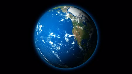planety : HD - Planet Earth rotates on Black Background