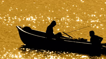 fishermen : HD - Silhouette of fishermen