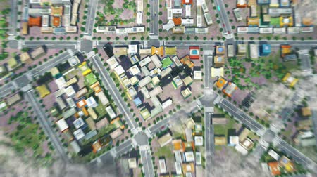 tridimensional : HD - Flying over city in the clouds Vídeos