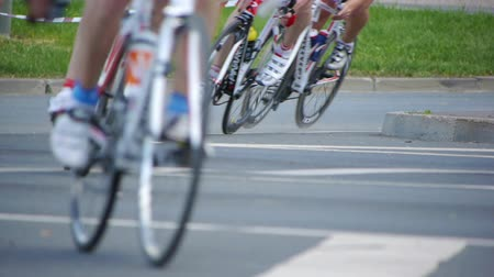 bisiklete binme : HD - Cycling Marathon. Bicycle wheels Stok Video