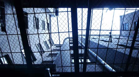 law enforcement : HD - Prison. Look through the security bars