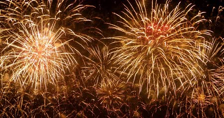 sound : 4K - Beautiful colorful firework Stock Footage