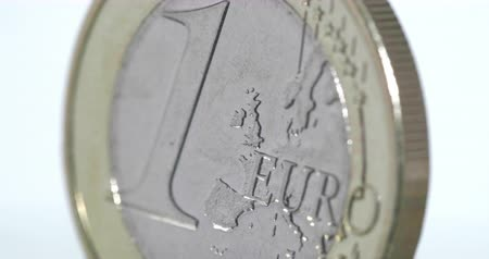налог : 4K - Euro Coin. Macro shot of a white background