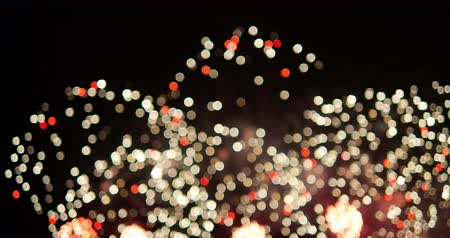 4K - Defocused background of a firework holiday