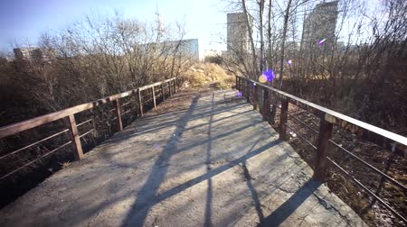 oco : Passing the hollow by bridge Stock Footage