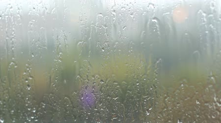 fogged : Fogged up glass with many drops