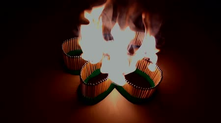 kullanılmayan : A number of matches ignited from one another, creating a flower.