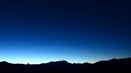 piemonte : Monte Rosa mountain (Italian Alps) seen from Valsesia at sunset with skyline.