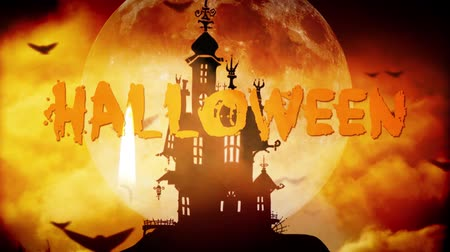 trik : Halloween haunted castle background
