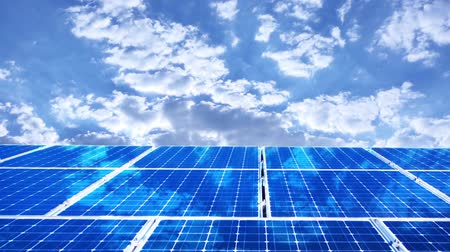 photovoltaic : Solar panels Stock Footage