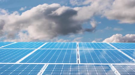 collector : Solar panels Stock Footage