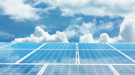 coletor : Solar panels Stock Footage