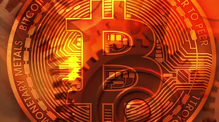 cryptography : Bitcoin cryptocurrency background