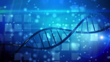 cloning : DNA helix molecurar structure  medical research background Stock Footage