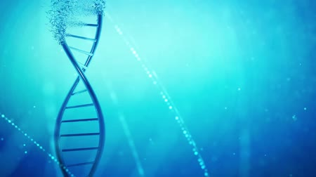 mikroskopický : DNA helix genetic research,medical background
