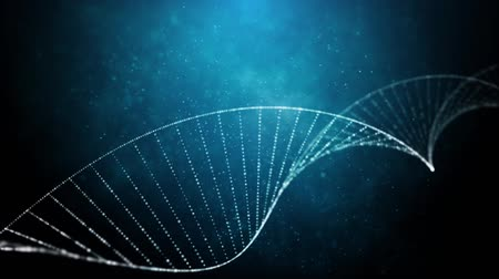 mikroszkopikus : DNA doble helix  medical background Stock mozgókép