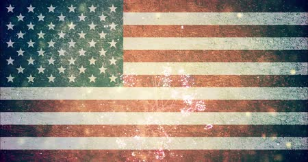 четверть : 4th of july USA flag background