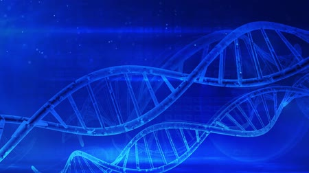 blauwe achtergrond : Medical background DNA helix