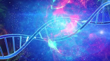 stems : DNA double helix medical background Stock Footage