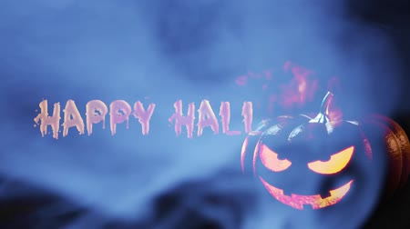 pók : Happy Halloween haunted pumpkin background
