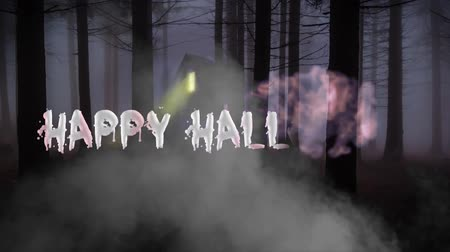 bat : Happy Halloween haunted forest