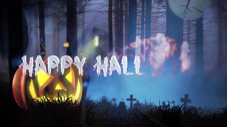 надгробная плита : Happy Halloween haunted forest