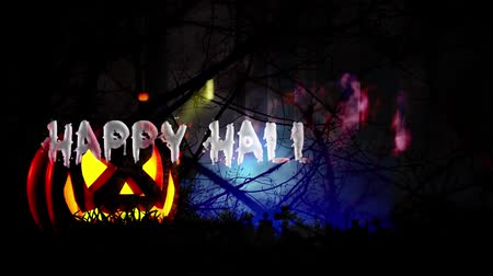 headstone : Happy Halloween haunted forest