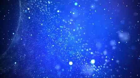 hoarfrost : Snow falling on blue winter background Stock Footage