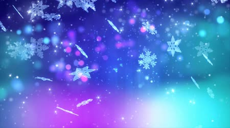sniezynka : Winter snowflakes falling. Winter wonderland background