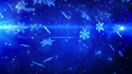 luty : Winter snowflakes falling. Winter wonderland background
