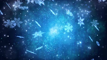 snowy background : Winter snowflakes falling. Winter wonderland background