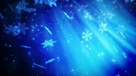 tempo de natal : Winter snowflakes falling. Winter wonderland background