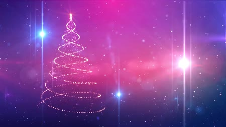 освещенный : Magic Christmas tree sparkles. Winter holidays background