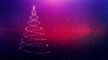 megvilágított : Magic Christmas tree sparkles. Winter holidays background