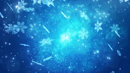 magical : Winter holidays magic snowflakes falling Stock Footage