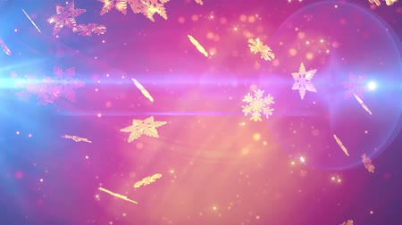 pehely : Winter holidays magic snowflakes falling Stock mozgókép