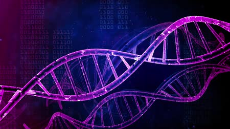 nanotechnologie : DNA strand medical and genetics background