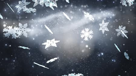 rama obrazu : Winter background with silver snowflakes Wideo